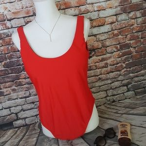 Ashley Graham red bay watch swimsuit size 16